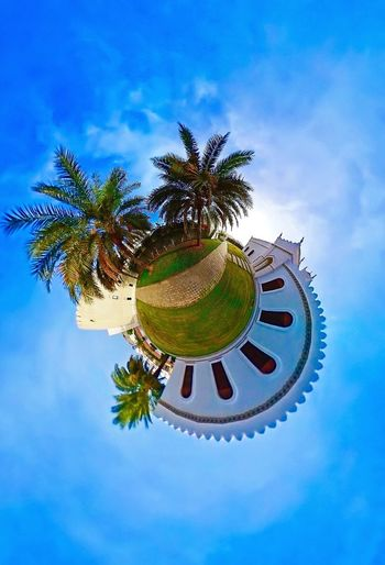 Tiny Planet 360° Pictures  360photography 360 Panorama Samsung Gear 360 Blue Sky Muscat , Oman Visit Oman Beautiful Architecture