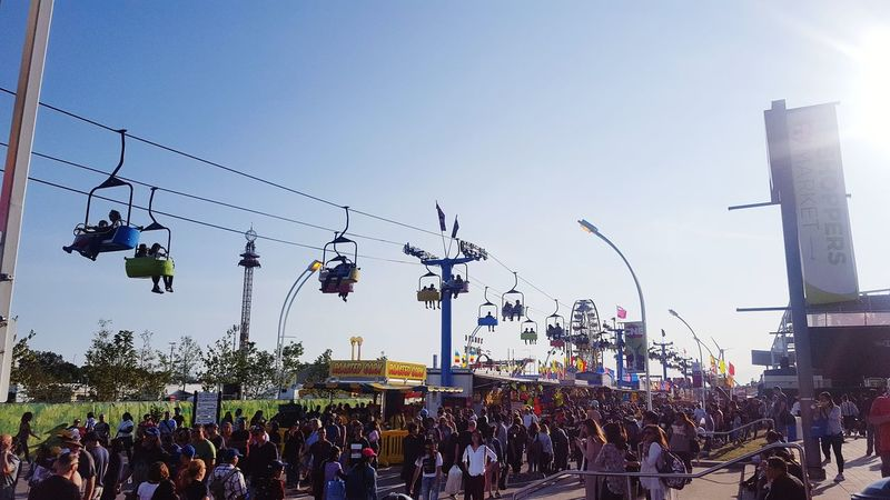 Midway at The Ex Chairlift Food Midway Summer Exhibition The Ex Toronto The 6ix Rides At Fair Fun People