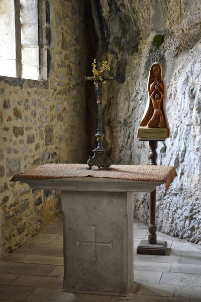 France Rocamadour Architecture Built Structure Citadel Day Indoors  No People Place Of Worship Religion Sculpture Spirituality Statue