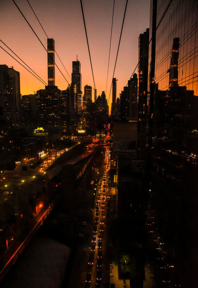 Roosevelt Island cable car, NYC. Photographed by Cooper Billington. Cable Car City Life Colors City Landscape Lifestyles Outdoors Photo Photography Sunset Transportation Yellow