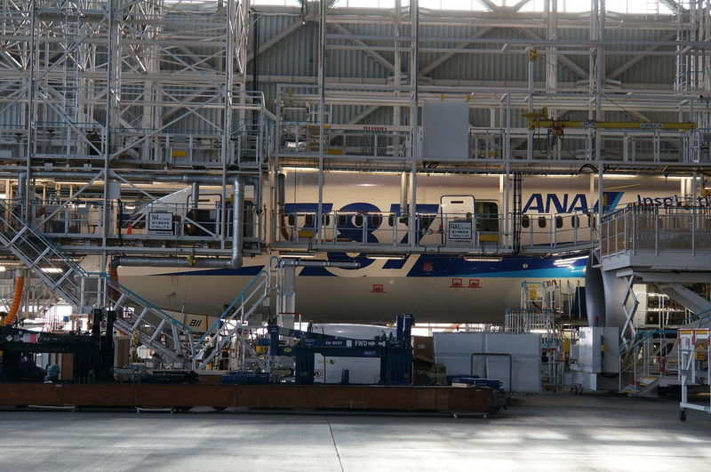 Airplane in factory