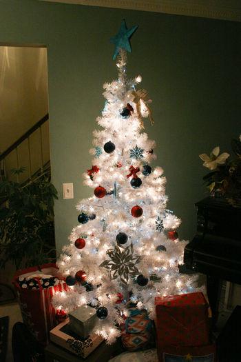Christmas Decorations Christmas Lights Christmas Time Christmas Tree Decoration No People Presents Presents Under Tree White Christmas Tree