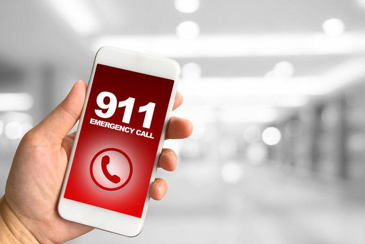 Emergency Call 911 Holding Human Body Part Human Hand Technology Wireless Technology