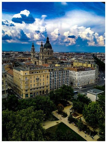 The view from the height. Travel Destinations Turistic Attractions Tredition Hungary Cityscape City Sky Architecture Building Exterior Built Structure Cloud - Sky