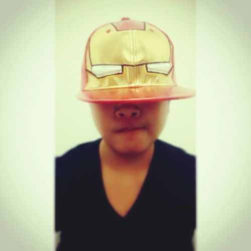 """My another new collection """"IRON MAN"""" Hat :)) .... finally found this bling bling hat :))) Ironmanhat Marvel Newcollection Feeling Happy"""