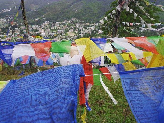 Colour your life. Bhutan Bhutandiaries Bhutan_ig TourOfTheDragon Roadtrip LiveTravelChannel Metaselect PrayerFlags Peace Freedom