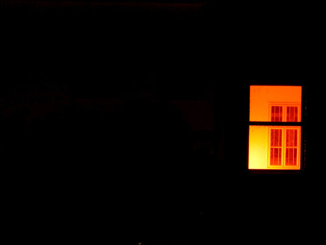 Apartment house flat's window lit by an orange light. Apartment Architecture Built Structure Dark Flat Illuminated No People Window HUAWEI Photo Award: After Dark