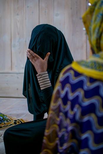 Women wearing traditional clothing