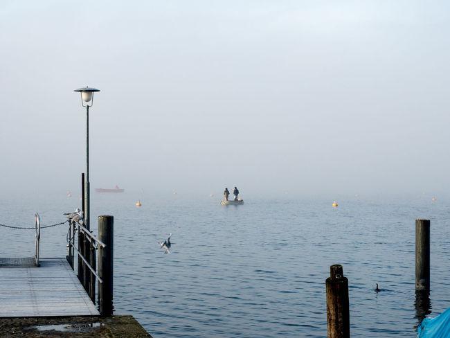 #Fisherman #fishermen #fog #Lake #pier #reed