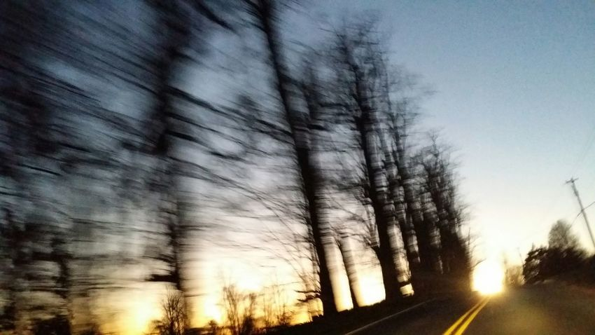 Drivebyphotography Hummelstown Sun Through Trees Sunset