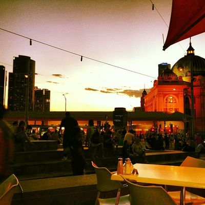 Fed Square in interesting effect.