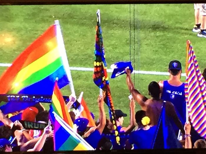 Orlando City ⚽️❤️ Multi Colored Orlandostrong Orlando City Soccer Pride Neverhuntalone
