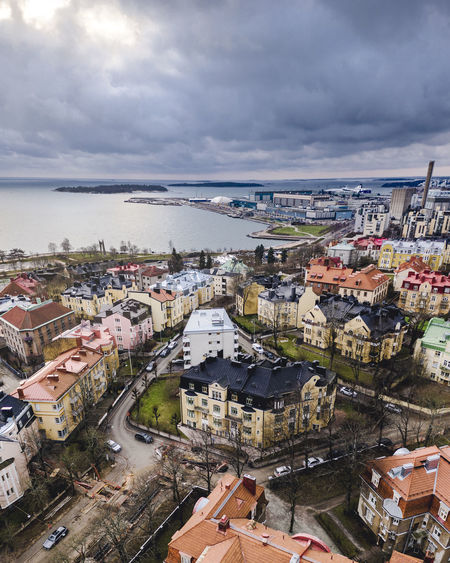 City Building Exterior Architecture Built Structure Cloud - Sky City Building High Angle View Sky Cityscape Residential District Crowded Nature Crowd Water Day Town Overcast Outdoors TOWNSCAPE Drone  Dronephotography Aerial View