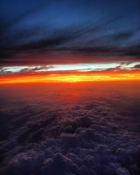 Cloud - Sky Sunset Beauty In Nature Scenics Nature Cloudscape Sky Dramatic Sky Space Backgrounds Tranquil Scene No People Outdoors The Natural World Sky Only Astronomy Day