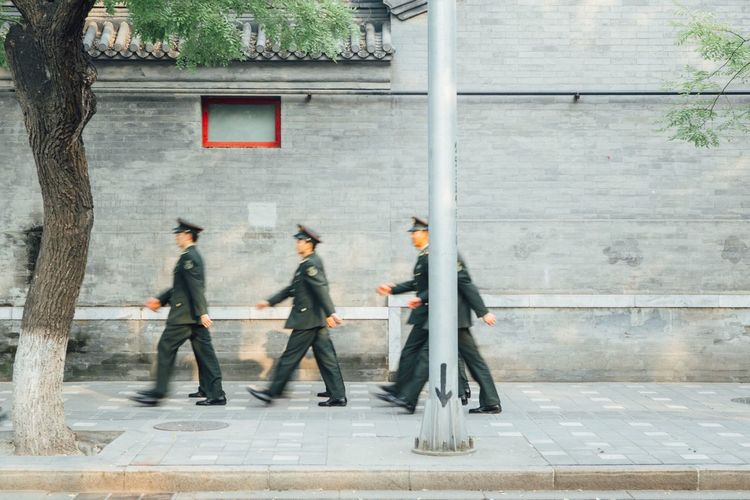 China Beijing Soldier Soldiers Streetphotography Street Urban Documentary Travel Travel Photography Eye4photography  The Week Of Eyeem Vscocam VSCO EyeEm Best Shots This Week On Eyeem Journey City Life Redstartravel