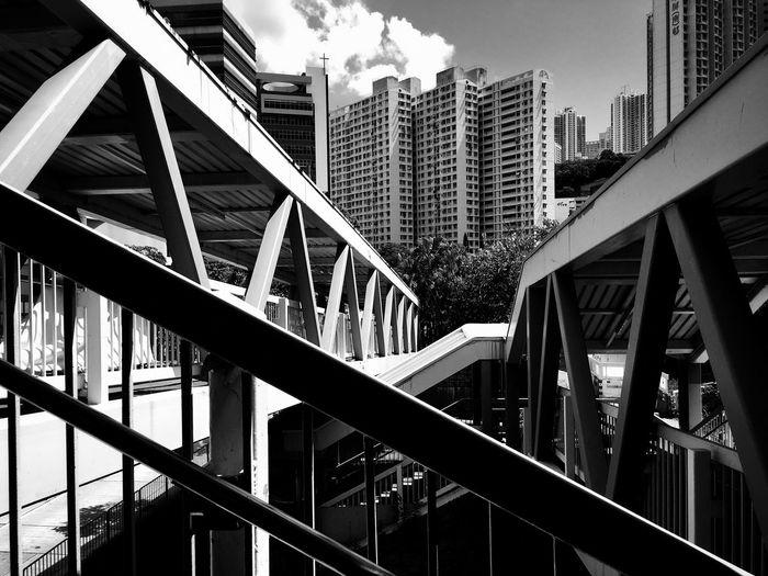 Elevated Walkway In City