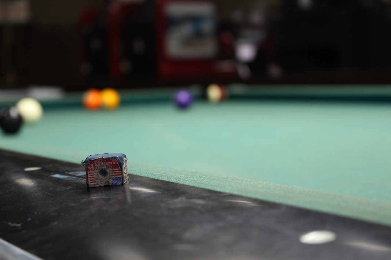 Close-Up Of Pool Table