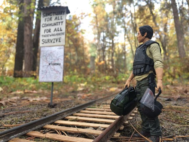 The Walking Dead AMC Train Tracks Nature Glenn Rhee
