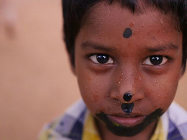 Orphan boy from India Real People Focus On Foreground Close-up