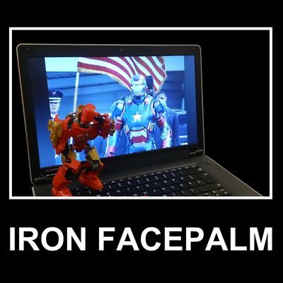 Dafuq?! I still can't believe what they did to the lovely Warmachine. I agree with you Tony. My opinion: IronPatriot just looks like an angry smurf :) What else do we expect from the US administration - NSA, PRISM, TEMPORA, XkeyScore, Bullrun, Genie. Facepalm !!!