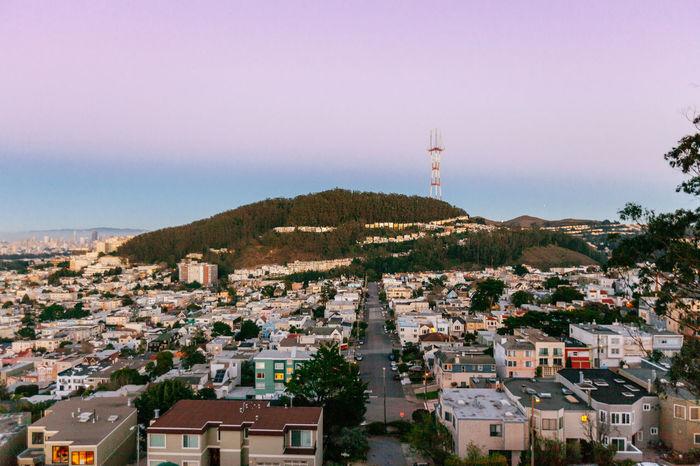 Grand View Park San Francisco Travel City Grid Skyline Neighborhood Vista Rows Of Houses Street Hill