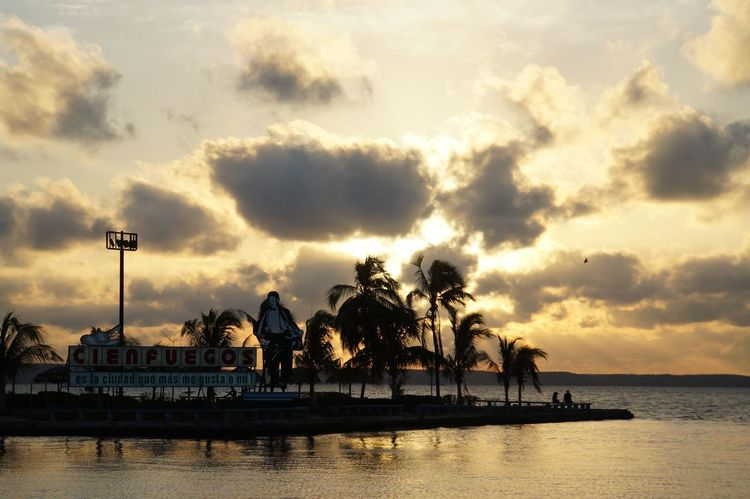 Beautiful Nature Beauty In Nature Beauty In Nature Cienfuegos, Cuba Cloud - Sky Cuba Collection Cuban Sunset EyeEm Nature Lover Malecon Nature Outdoors Sea Silhouette Sky Sunset Sunset And Clouds  Sunset Silhouettes Sunset_collection Sunsetlover Water Waterfront