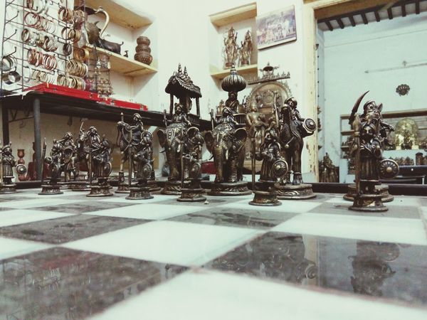 Focus Object Chessboard Pieces Chessboard Brass Statue Chessgame Chess Set Chess Chess Pieces Chess Board Chess Game Sculpture Brassmetal Metal Metalwork Metal Sculptures