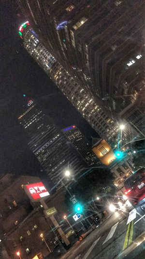 Illuminated Night City Building Exterior Architecture Built Structure No People Outdoors Modern