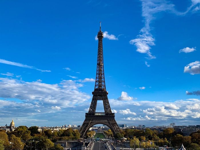 Eiffel Tower France Paris Sky Architecture Built Structure Tower Cloud - Sky History Travel Destinations Tall - High Blue Nature Metal No People Day Outdoors Travel