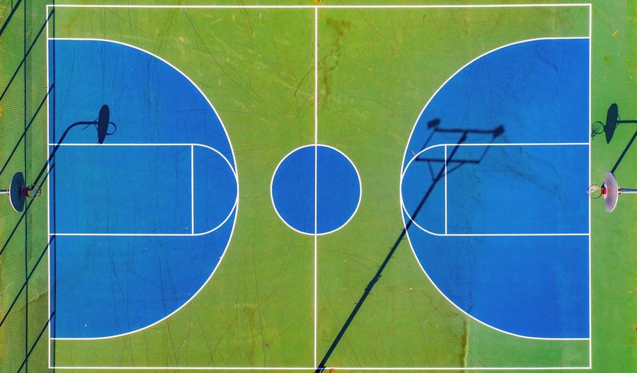 Basketball court Sport Blue Grass Green Color Day Nature Soccer Field Directly Above Playing Field High Angle View No People Outdoors Court Competitive Sport Geometric Shape Team Sport First Eyeem Photo My Best Photo