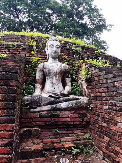 Chan palace in phitsanulok,Thailand - Travel & Tourism Travel Tourism Phitsanulok Chan Palace Old Buddha Thailand Palace Tample Sculpture Statue Place Of Worship Spirituality Religion Idol Human Representation Male Likeness Old Ruin