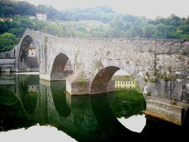 PONTE DEL DIAVOLO a Borgo A Mozzano Tuscany Travel Photography Investing In Quality Of Life Happiness Vacation Destination Bagni Di Lucca Traveling Home For The Holidays Lucca Travel Nature Landscape_Collection Outdoors Lucca 2017 No People Sky Nature Water Building Exterior Beauty In Nature EyeEmNewHere Good Morning