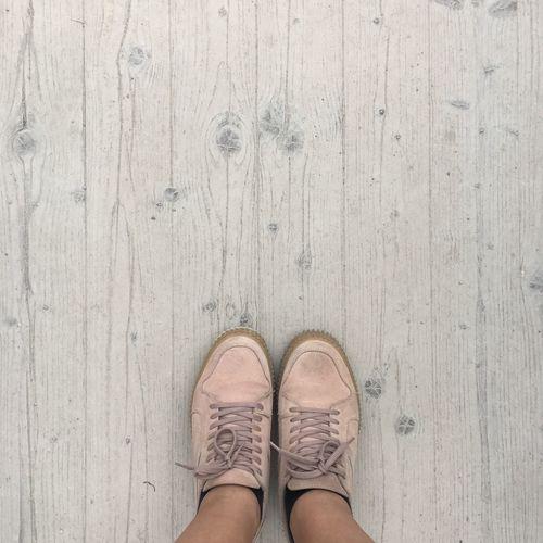 New shoes? No Filter No Edit/no Filter Standing Shoe Wood Paneling Floor Wood Wooden Floor Shoes Sneaker Pink Walking