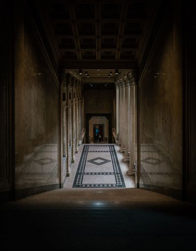 The in between Reflection Szépművészeti Múzeum Budapest Hungary Architecture Indoors  Built Structure The Way Forward Direction No People Building Corridor Entrance Flooring Diminishing Perspective Architectural Column