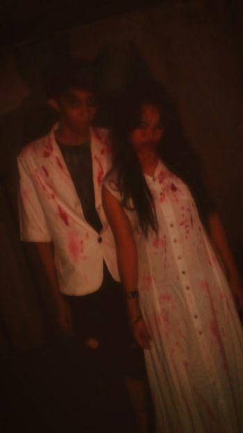 Zombie Couples 2.0 Ele151px Nuartapp Fashion Horror Light Fillflash Composition Moment