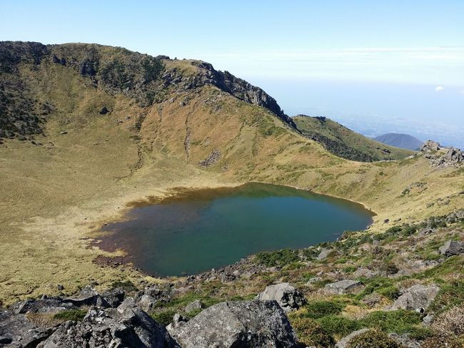 Mountain Non-urban Scene Outdoors Jeju Nature Landscape Travel JEJU ISLAND  Scenics Beauty In Nature Lake Top Of The Mountains Peak 백록담 Baengnokdam 한라산  Hallasan