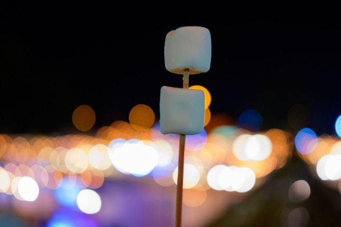 Marshmallow at Pingfai Festival in Chiang Mai Thailand. Chiang Mai | Thailand Light Blur Close-up Focus On Foreground Illuminated Lighting Equipment Mashmallow Night No People Outdoors