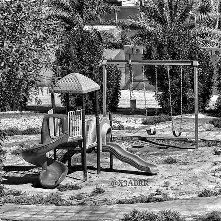 حديقة الحديقة ملاهي اطفال الاطفال الربيعية ابيض_اسود Children Childrens Amusement  Park HDR Colorful Blackandwhite Nature Landscape القصيم مساء_الخير