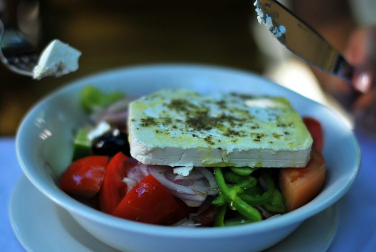 Greek Salad Salad Eat Feta Feta Cheese Food Retaurant Summer Salad Tomato EyeEmNewHere
