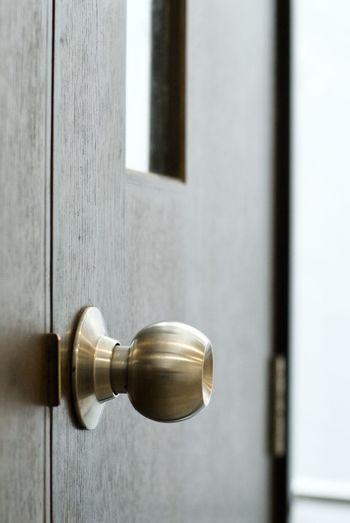 Close-up of wooden doorknob
