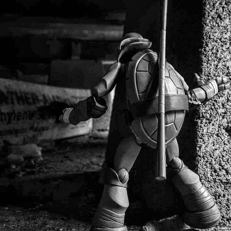 Heres one of my old ones...🐢 Toy Photography Action Figures Toyphotography EyeEm Best Pics EyeEm Best Shots Outdoor Photography Actiontoyart Ata_dreadnoughts Outdoor Toy Photography Action Figure Photography Eyeem Best Toy Shot B&w Photography Tmnt Teenage Mutant Ninja Turtles  Revoltech Donnie Ninja Turtles