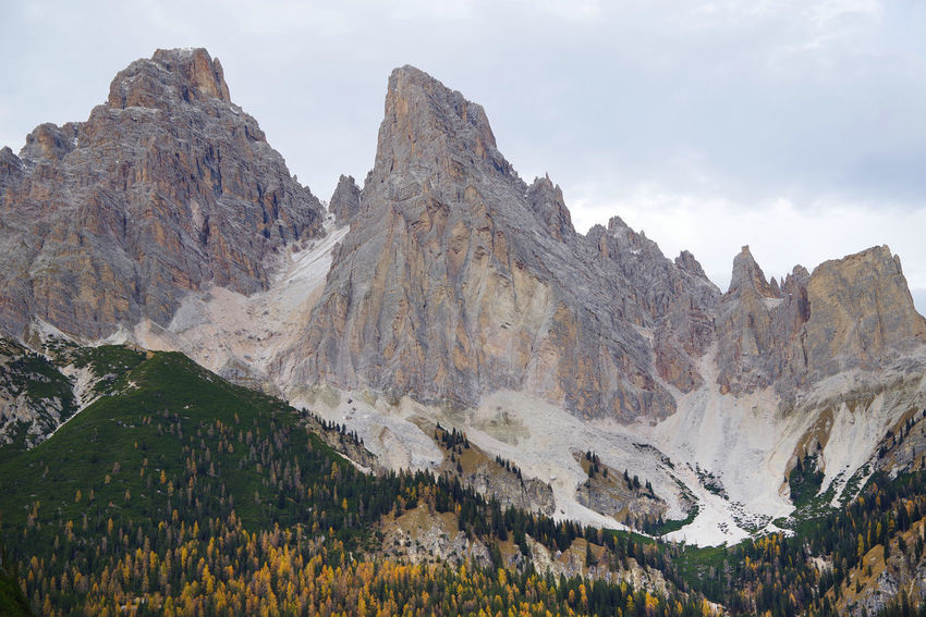 Autumn Autumn Collection Autumn Colors Dolomites Dolomites, Italy Fall Beauty Sunrise Collection Sunrise Collection 2017 Tofana Di Rozes UNESCO World Heritage Site Beauty In Nature Day Europe Fall Forest Forest Photography Italy Landscape Mountain Nature No People Outdoors Scenics Sunrise Unesco