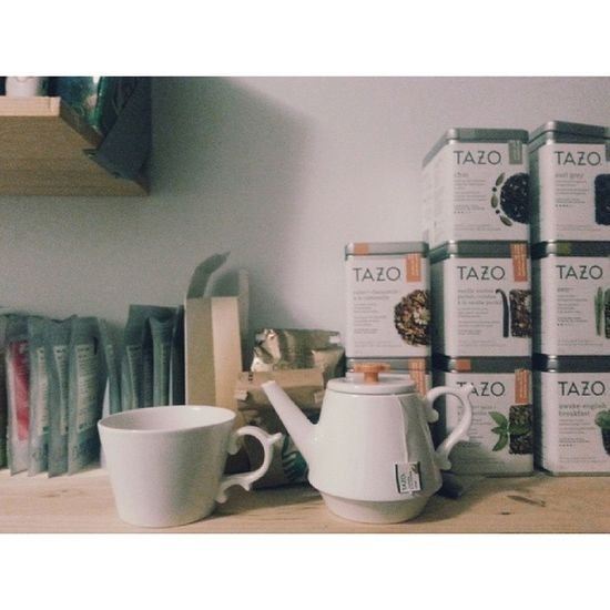 Teaaa time Tea Starbucks Tazo Chai teacups teapot