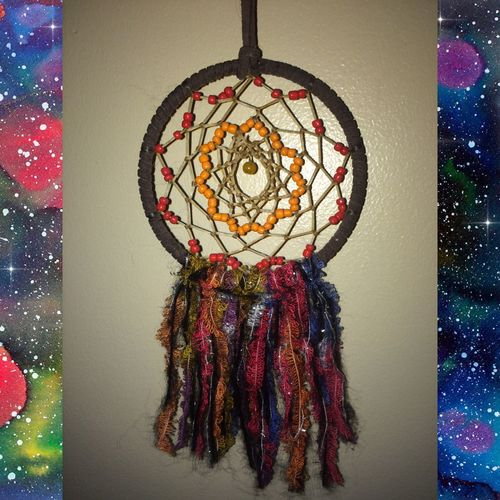 Finally finished this beauty! Starting to seriously think about making/selling them Dreamer Good Vibes 90's Chick Dreamcatcher Dream Weaver Peace Namaste No Filter Good Vibes ✌ Hakuna Matata