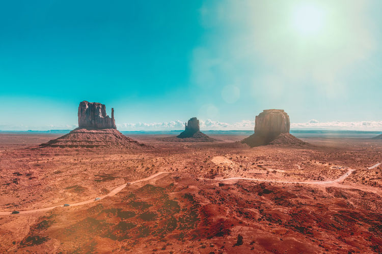 The legendary monuments of monument valley