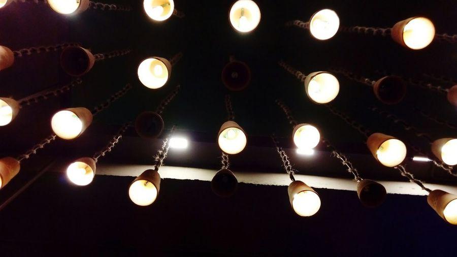 Stars above Illuminated Lighting Equipment Glowing Dark Hanging Decoration