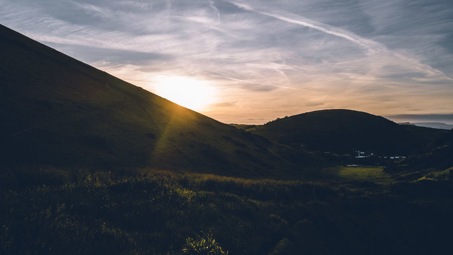 Sunrise at jurassic coast