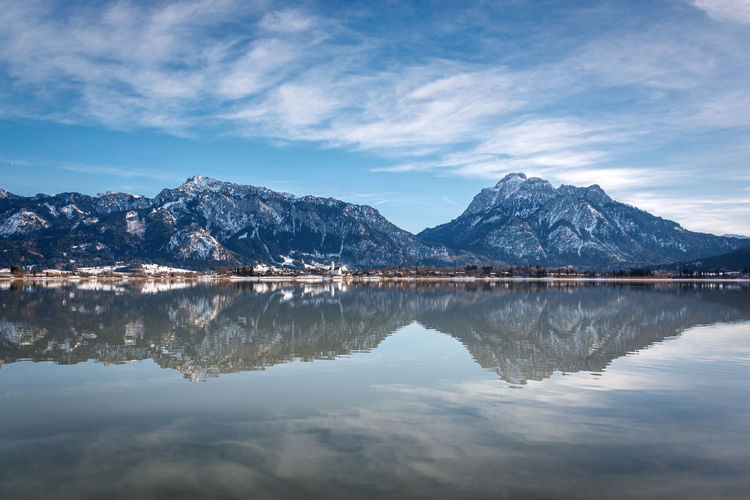 Scenic view of lake against mountains