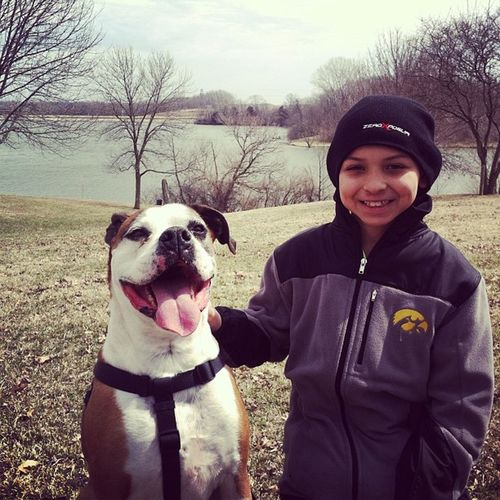 Dallas and Tyson at West Lake.