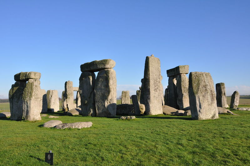 Stonehenge against clear sky